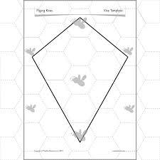 Free Printable Kite Template Flying Kites Constructing A Kite Kite Template Kite Template