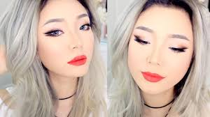 hwasa 화사 from mamamoo inspired makeup tutorial half ombre double wing for asian eyes you