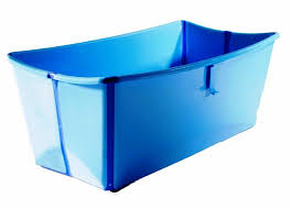 image of portable folding bath tub