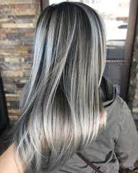 Blonde hair with black streaks