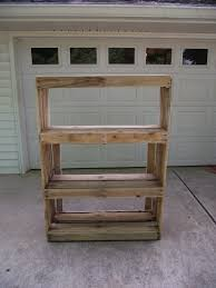 Shelves Made From Pallets Pallet Storage Shelf New Life New Purpose