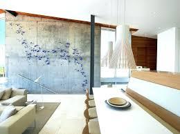 diy concrete wall wooden art dining room modern with pendant lights long beach cement tiles panels diy concrete