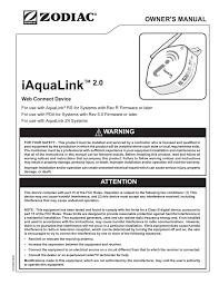 Iaqualink Led Lights Iaqualink 2 0 Owner S Manual Manualzz Com