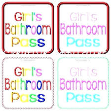 Hall Pass Template Pdf Bathroom Printable Passes 6 Per Page