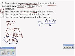 06 average velocity problem