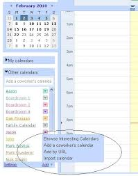 more calendars adding other calendars google apps help