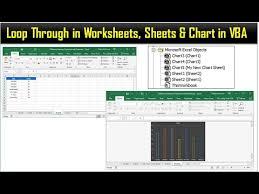 Microsoft Graph Chart Vba Loop Through In Worksheets Sheets Chart In Vba Youtube