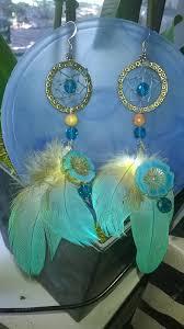Hawaiian Dream Catcher Mesmerizing Dream Catcher Earrings Teal Hawaiian Hibiscus Picasso Bead Teal