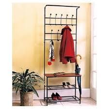 Ebay Coat Rack Entryway Storage Bench Valet With Coat Rack Hanger Shoe Shelves 18