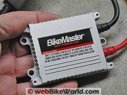 motorcycle hid headlight conversion webbikeworld hid ballast close up