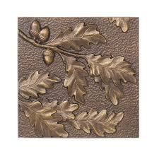 oak leaf aluminum wall decor on antique gold metal wall art with whitehall products 8 in oak leaf aluminum wall decor 10246 the