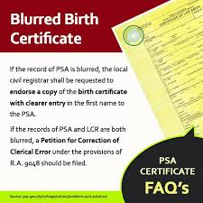 Blurred Ba Ang Psa Birth Certificate Nso Birth Certificate