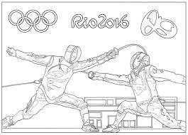 Jeux Olympiques De Rio 2016 L Escrimea Partir De La Galerie Coloriages De Sportifs Des Sports Dete Coloriages De Dessins Sur Les L