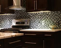 ... Wonderful Mosaic Tile Backsplash Kitchen Ideas White Black Tile Pattern  Glass Backsplash White Gloss Wood Countertops