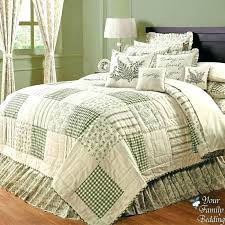 french country bedding sets country style quilt bedding country green ivory fl patchwork twin queen cal
