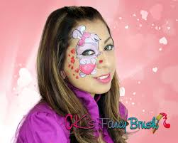Small Picture Valentines bunny face painting tutorial Tutorial de face