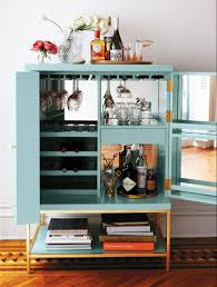 contemporary home bar furniture. This Aqua/golden Bar Cabinet Encapsulates The Very Meaning Of Small Home Bar. It Can Be Used In Mid-century Modern Decorations, As Well More Contemporary Furniture
