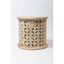 lovely mango wood side table with bagru round side table mango wood cotterell co