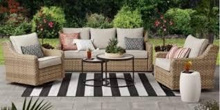 resin wicker patio conversation set