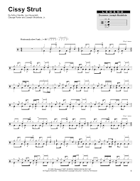 Cissy Strut Chart Cissy Strut By The Meters Drums Transcription Digital Sheet Music