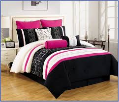 black white and hot pink bedding designs intended for comforter sets inspirations 5