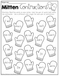 Color The Mittens That Match The