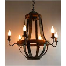vintage wooden chandeliers 579 iron strap and aged wood chandelier french country