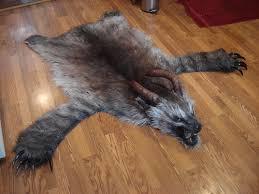 lovecraft faux bear skin rug faux animal rug nursery