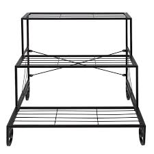 tiered iron plant stand. Best Choice Products Tier Metal Plant Stand Decorative Planter Holder Flower Pot Shelf Rack Black Walmartcom Throughout Tiered Iron