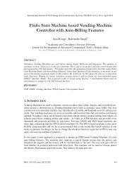 Vhdl Code For Tea Coffee Vending Machine Stunning Finite State Machine Based Vending Machine IEEE Paper