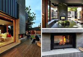 double sided outdoor fireplace examples of how to incorporate a double sided fireplace into your home