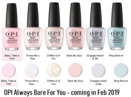 Opi Purple Color Chart Opi Always Bare For You 2019 Sheer Shades In 2019 Opi Nail