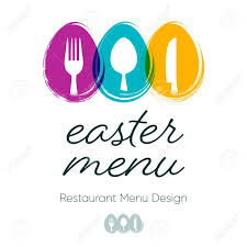 Abstract Menu Design Abstract Restaurant Easter Menu Design With Cutlery Signs