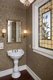 glass pro omaha ideas for victorian powder room with gold wallpaper wood molding vintage and custom