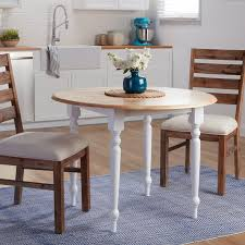 Shop Simple Living Two Tone 40 Inch Rubberwood Round Drop Leaf Table