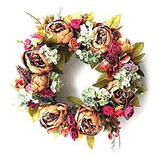 Takefuns <b>Artificial Rose Flower</b> Wreath,Door Backdrops Ornaments ...
