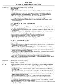 Financial Reporting Manager Resume Samples Velvet Jobs