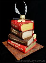 Harry Potter Stacked Books Cake Cakecentralcom