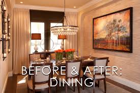 Vibrant Transitional Dining Room Before And After - San diego dining room furniture