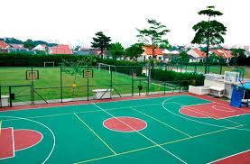 basketball court merements