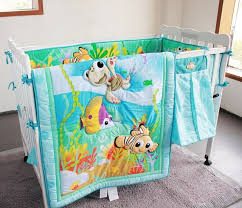 7PCS embroidered Fish newborn baby cot bedding set bumpers infant ... & 7PCS embroidered Fish newborn baby cot bedding set bumpers infant baby cot  quilt set,include Adamdwight.com