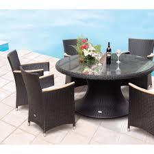 round wicker patio table