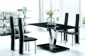 modern dining room chairs pertaining to table set kitchen and cabinet designs ideas black 3