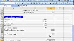 How To Create A Break Even Analysis Chart Breakeven Analysis In Excel