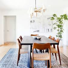 rugs too small for the space boho dining room