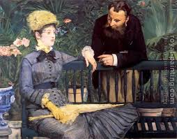 in the conservatory study of m and mme jules guillemet by edouard manet handmade oil painting reions for always custom made on premium