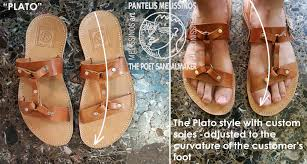 all sandals are custom fit to your measurements we also bevel the edges of the leather straps to make them more
