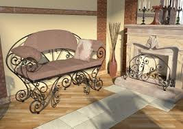Wrought Iron Living Room Furniture Wrought Iron Furniture Ideas For Interior