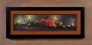 Fall Lighted Canvas Framed Lighted Picture Fall Pumpkins Gourds And Lighted