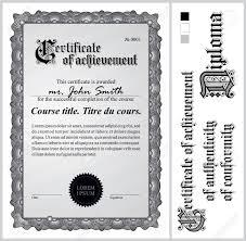 Certificado De Blanco Y Negro Plantilla De La Vertical De Elementos